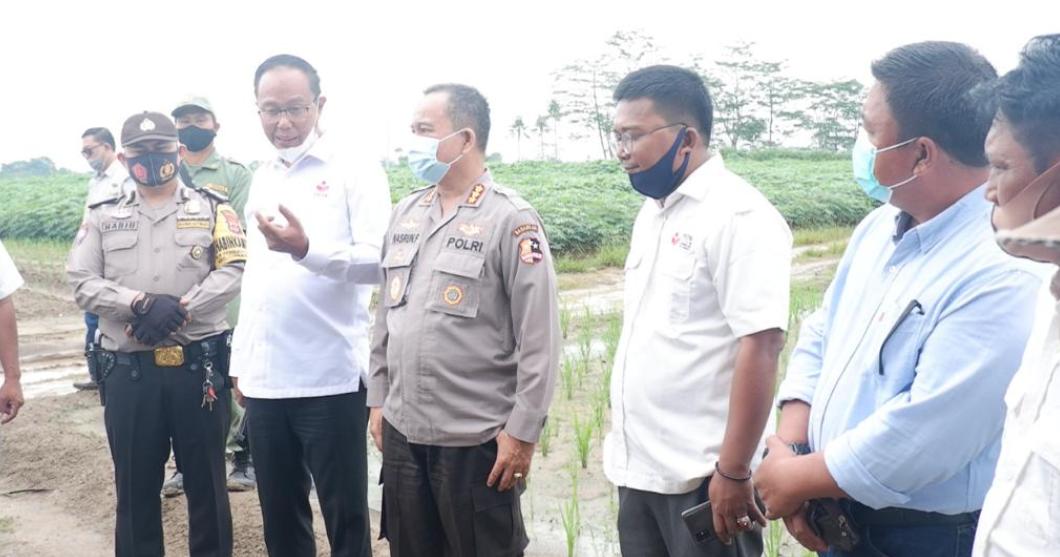 Baharkam Polri Kunjungi Lahan FKDB On Farm di Lampung