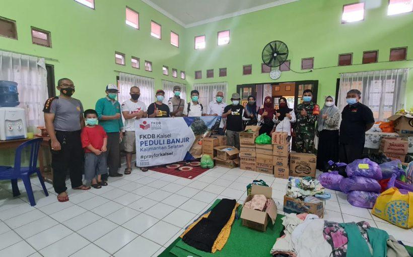 Aksi Peduli DPD FKDB Kalsel Terhadap Warga Korban Banjir Kalsel