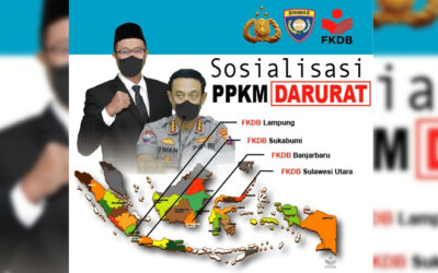 Dukung Opspus Aman Nusa II Polri, FKDB Sosialisasikan PPKM Darurat