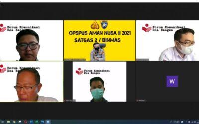 FKDB Siap Dukung Opspus Aman Nusa II Polri dengan Sosialisasi PPKM Darurat